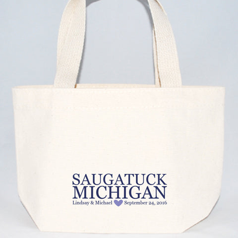 text for saugatuck michigan welcome bags