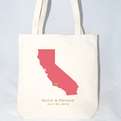california wedding welcome bags