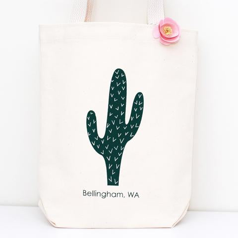 flowers on cactus bag