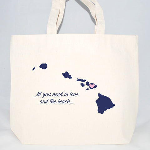 Hawaii custom wedding welcome totes