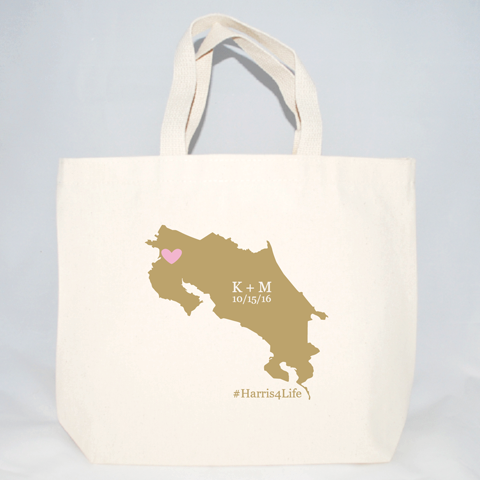 costa rica destination wedding welcome bags