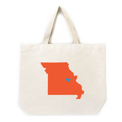 Missouri tote bags for weddings and events