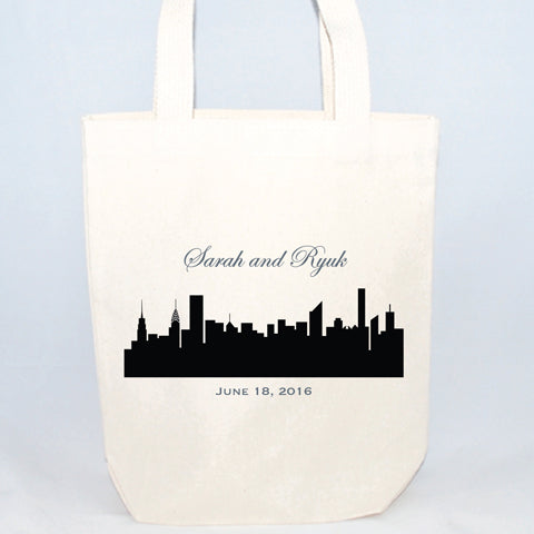 nyc skyline tote bags