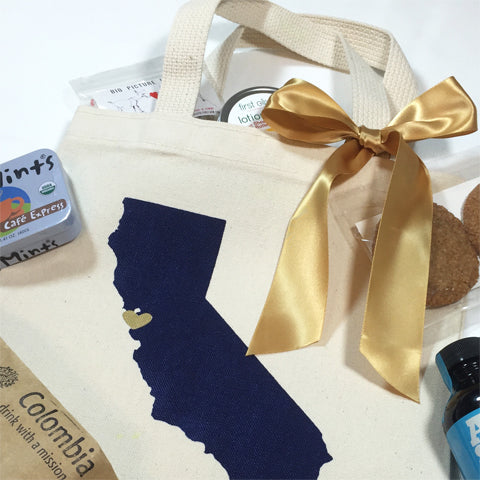 california state wedding welcome bags