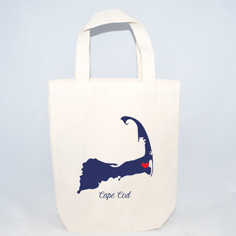 custom location cape code wedding totes