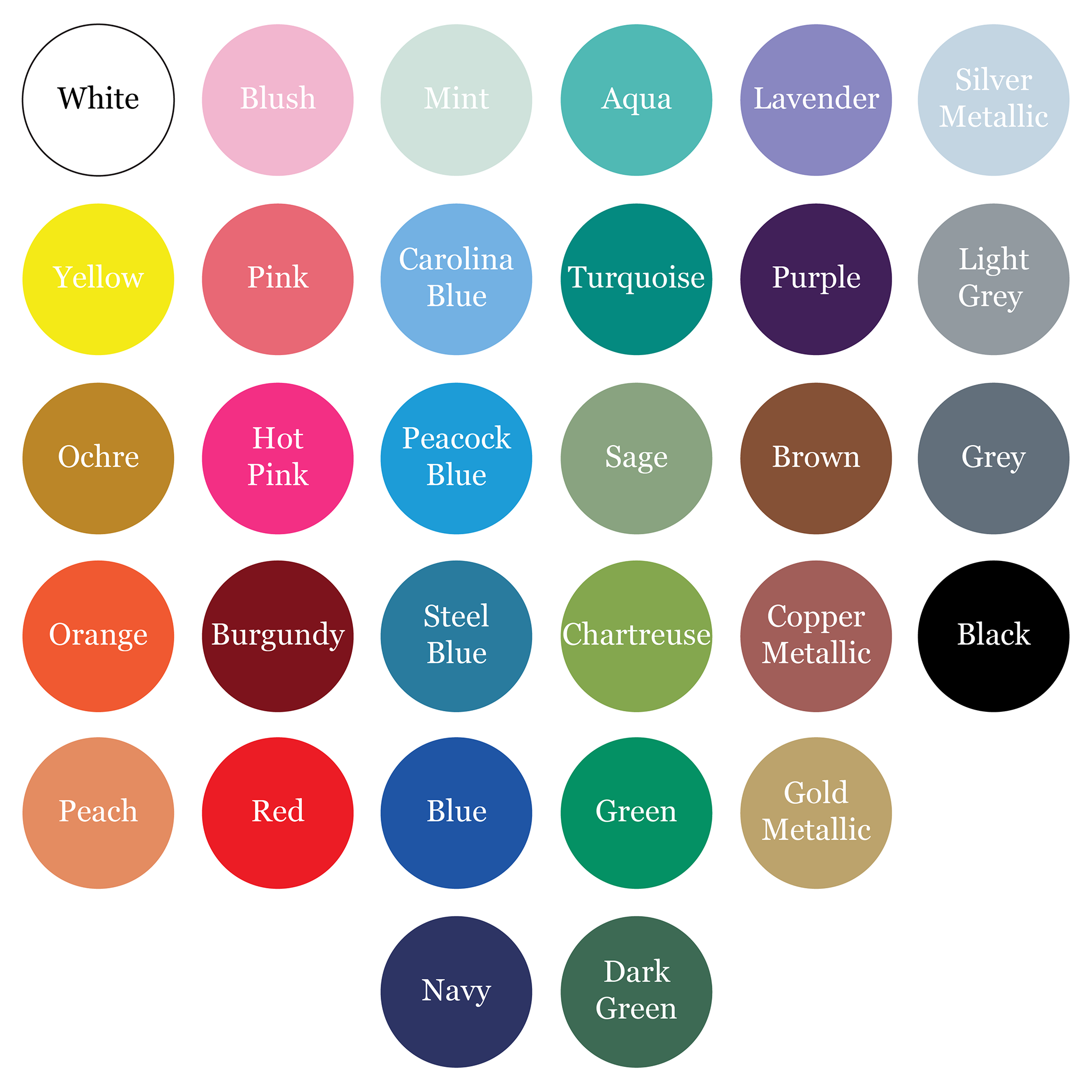 welcome bag color options