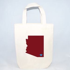 tote bag wedding favors for Arizona wedding welcome bags
