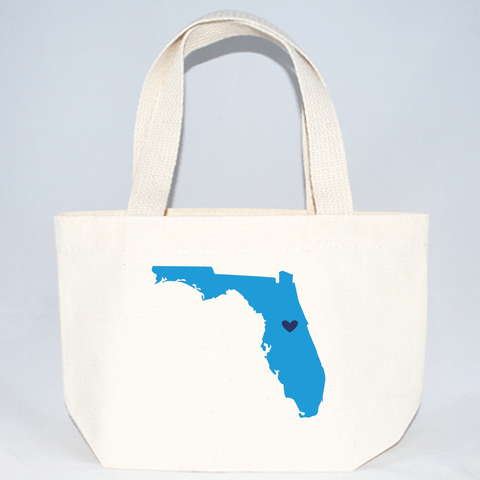 XS totes with Florida silhouette for events