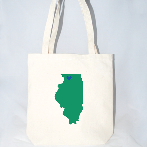 Illinois large wedding welcome tote bags