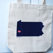 Load image into Gallery viewer, Pennsylvania Wedding Totes - Large
