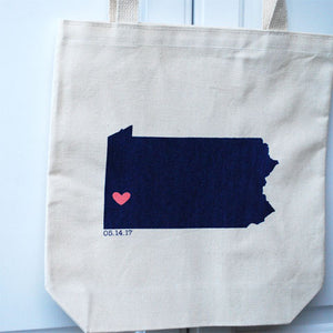 Pennsylvania Wedding Totes - Large