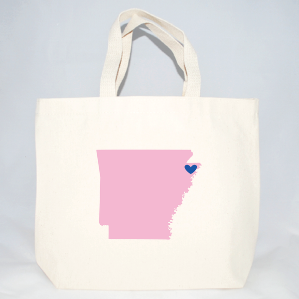 Arkansas tote bags for weddings