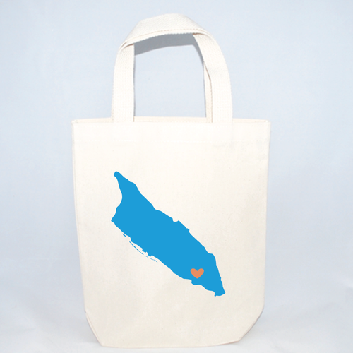 Aruba beach wedding tote bags