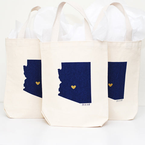 Arizona Wedding Favor Bags - Small
