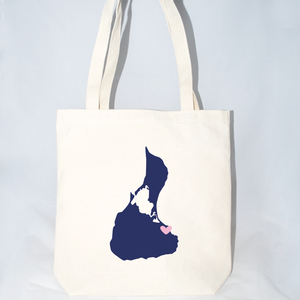Block Island tote bags in large for weddings