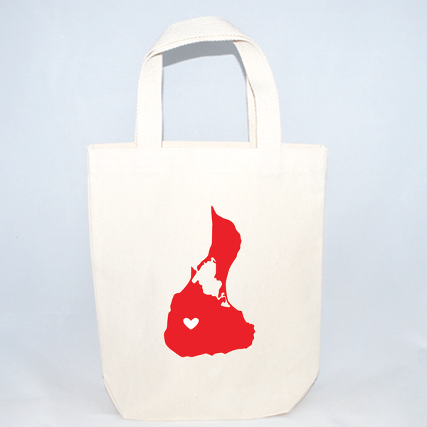 Block Island image on small tote bag