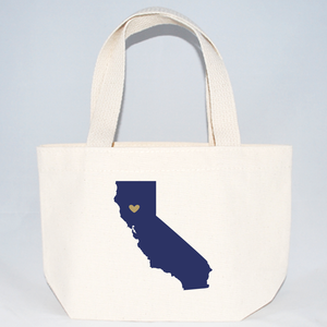 California extra small tote bags for wedding guests.