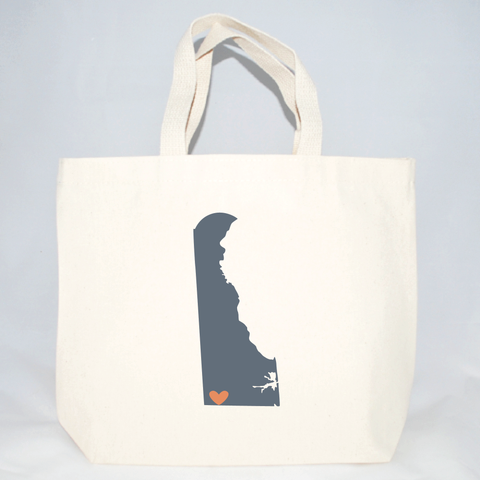 Delaware medium sized tote bags