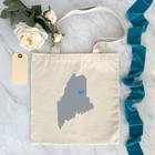 State / Country Flat Tote Bags