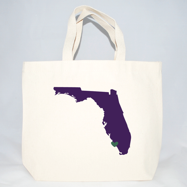 Florida medium sized tote bags for weddings and events