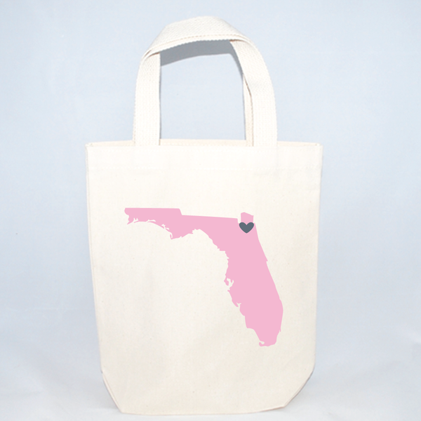 Florida small totes for wedding guests