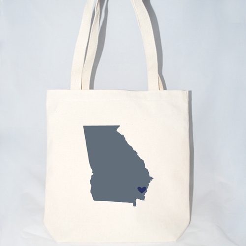 Large Georgia wedding totes customizable for wedding guests