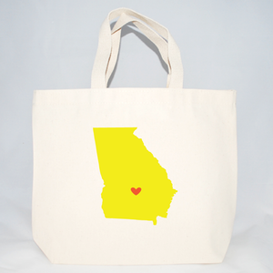 Medium Georgia tote bags for events
