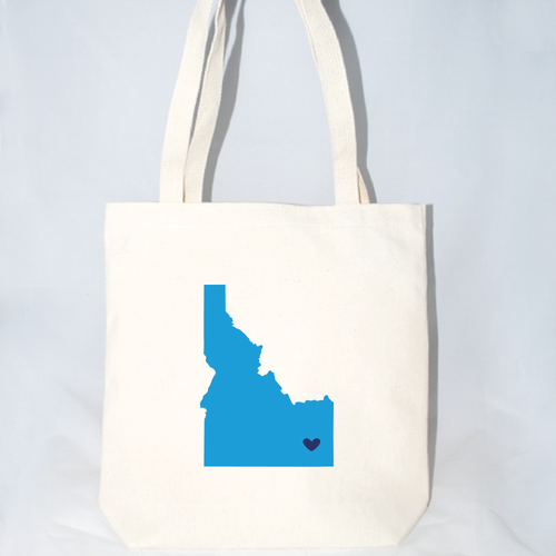 Large Idaho tote bag for weddings