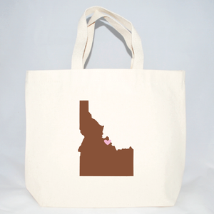 Idaho totes for wedding welcome bags