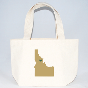 Idaho XS tote bags for weddings, bridesmaid gifts