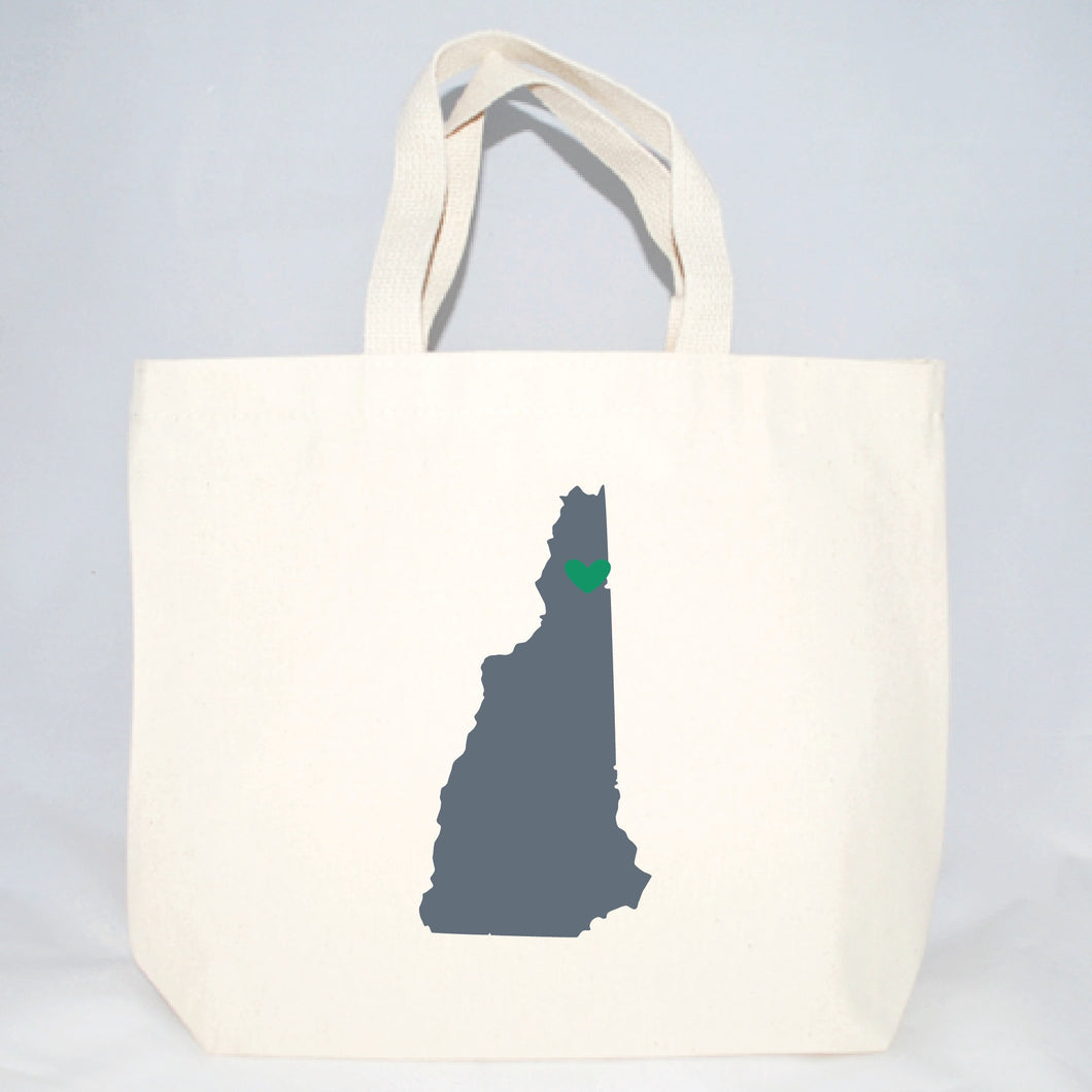 New Hampshire tote bags for welcome gifts