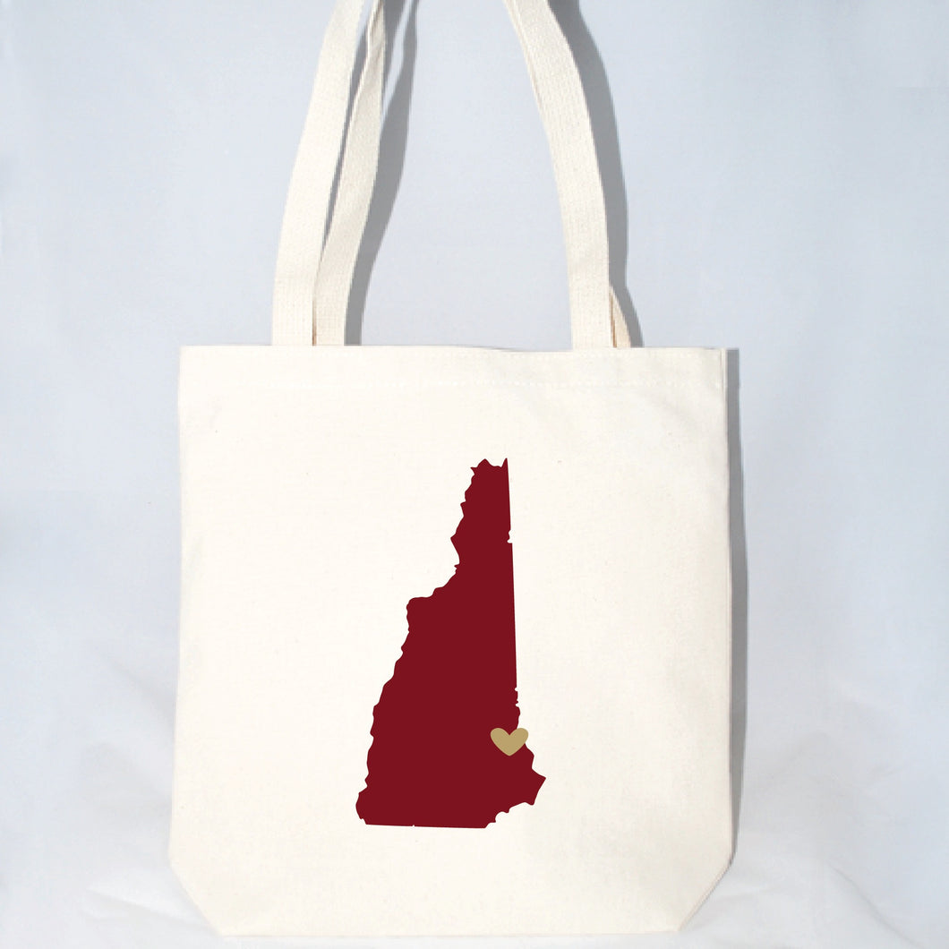 New Hampshire large totes bags for wedding welcome gifts
