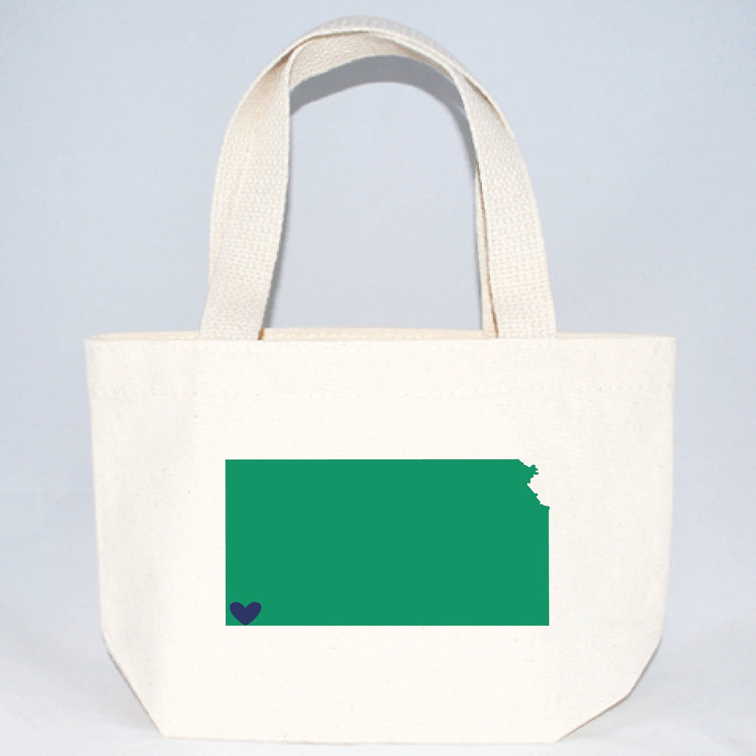 kansas extra small tote bags for weddings