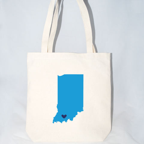 Indiana tote bags for gifts, vacations, party favors.