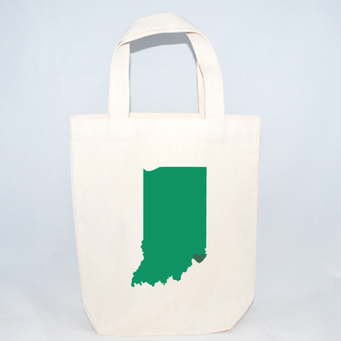 Indiana totes for holiday gifts.  Indiana screen printed on cotton canvas tote bags.