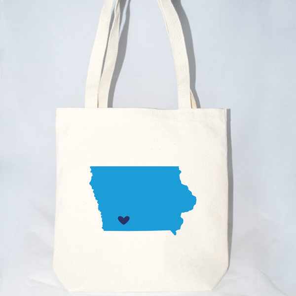 Iowa large tote bag