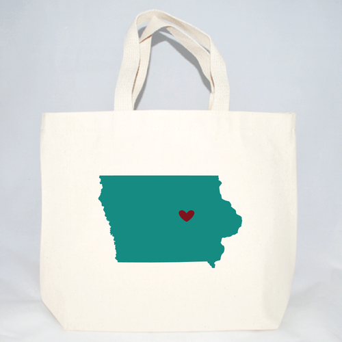Medium Iowa tote bags for weddings and events