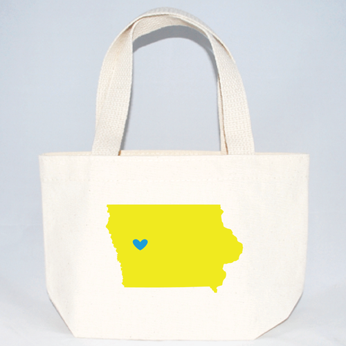 XS Iowa tote bag