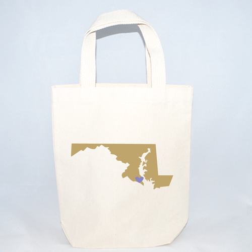 Small Maryland tote bags for event favors