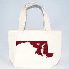 Load image into Gallery viewer, Maryaland extra small event canvas tote bags