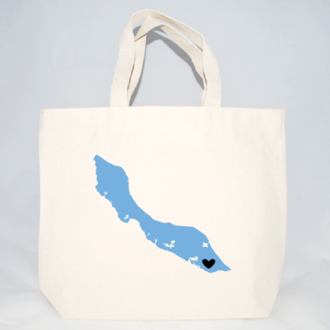 Curacao medium wedding welcome tote bags