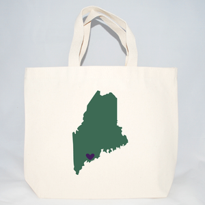 Maine screen printed tote bags for events