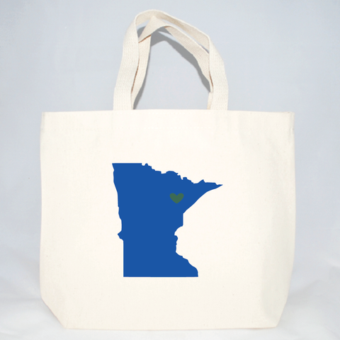 Medium size totes with Minnesota screen print