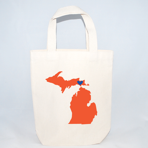 Michigan tote bags for wedding guests.