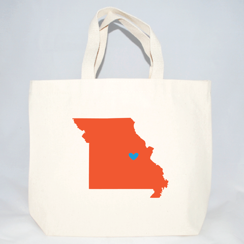 medium missouri tote bag