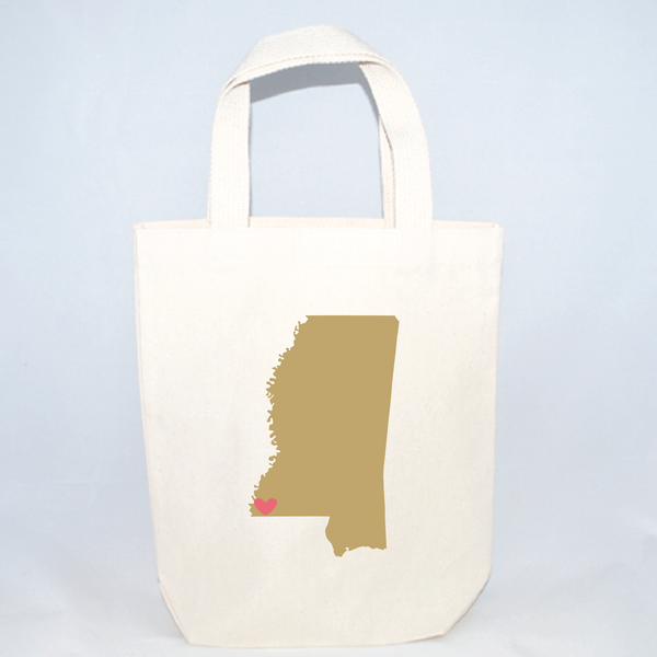 small mississippi tote bags