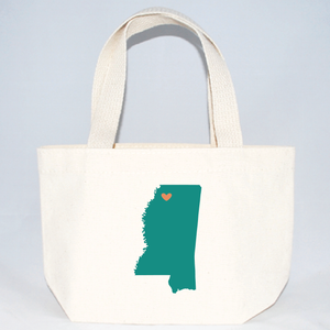 Mississippi xs tote bags for weddings and events