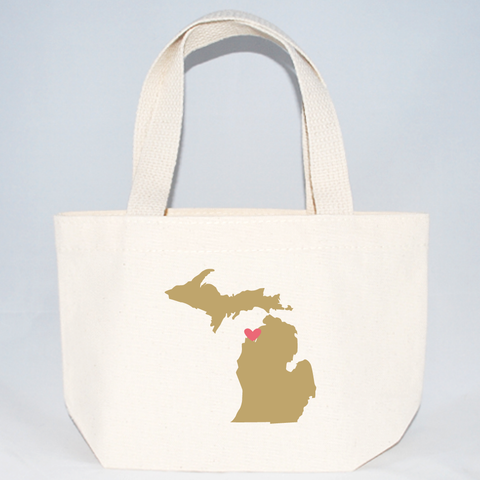 Michigan totes for wedding weekend goodies.