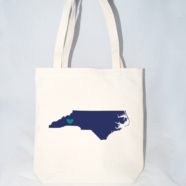 North Carolina wedding tote bags