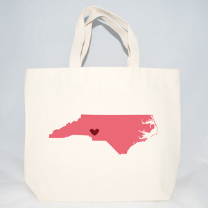 Custom state tote bags for events and weddings